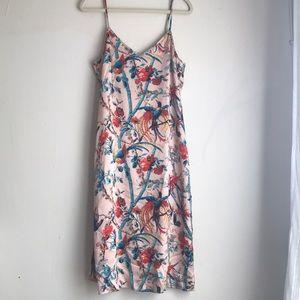 Club Monaco hammered silk printed dress